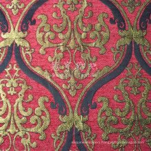 100% Polyester Jacquard Chenille Fabric for Decoration