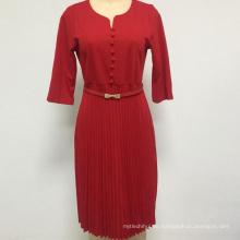 Damenkleid Plus Size Mehrfarbiges Damenkleid