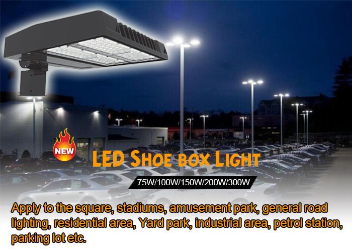 200W ETL Led Shoe Box Parking Lot