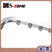 Tipo de metal de la aleación de aluminio pista curvada o pista de la cortina