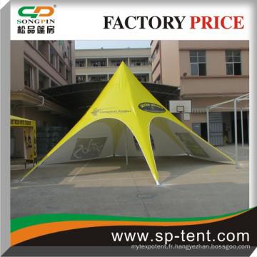 Tente étoile pour la promotion d'événements en plein air