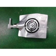 Novo design de impulso líquido folha de alumínio bolsa com bico / alumimum folha bico bolsa para embalagem xampu, corpo de lavagem, cosméticos ect