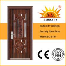 Puertas de entrada de metal único de precio de fábrica (SC-S041)