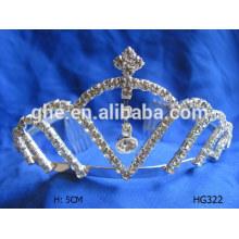 Последний дизайн корона расческа розовый конкурс тиары продажа корона sunglass тиара оптом