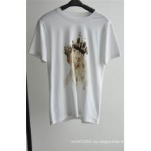 Camiseta de algodón estampado de diseño de moda para hombre para el verano