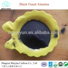 85% abrasive black aluminium oxide price for polishing and sandblasting black corundum