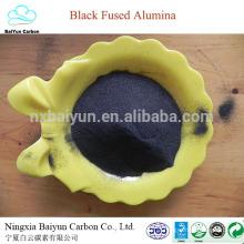 85% preço abrasivo de óxido preto de alumínio para polimento e jateamento de corindo preto