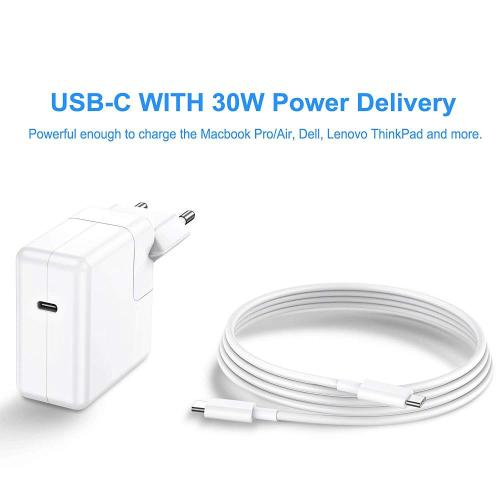 PD 30W Type-C Chargeur MacBook EU Plug
