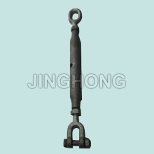 Long Closed Body Turnbuckle With Jaw and Oval Eye