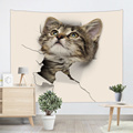 Cat Lovely Tapestry Animal Cute Wall Hanging 3D Print Tapestry voor kinderen Woonkamer Slaapkamer Thuis Slaapzaal Decor