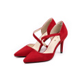 Red Sexy Sharply Toe Pumps Heel Pumps