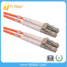 Conector óptico LC / UPC de fibra dúplex multimodo