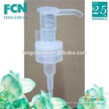 Clear 10ml Plastic PP pompe à distributeur de savon cosmétique à la menthe 24/410