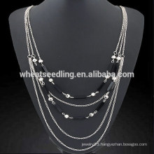 Crystal simple multilayer sweater chain fairy tail necklace