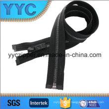 Yyc 5# Black Gun Color Teeth Brass Zipper for Jacket