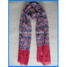 Lady's printed fashion summer scarf voile