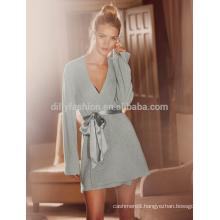 Super soft 100% cashmere knitted women sleepwear