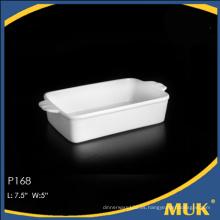 Buena calidad de stock blanco al por mayor pequeñas placas de cerámica para el hotel