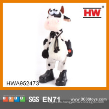 Venta caliente B / O Peluche Animal 38CM Cry Musical Dancing Cow Toy