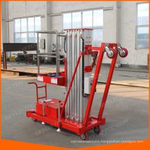 Single mast tilt back wheel aluminum lifter