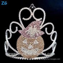 Acessórios de cristal colorido para a coroa das abóboras de Halloween, coroa do desfile de Halloween