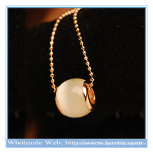 2014 moda moda exclusivo projeto branco opala colar longo luar
