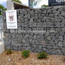 El precio de fábrica galvanizó la cesta / la caja del gabion para la venta usada para la barrera del hesco el alambre 2-6mm la cesta / la caja / la caja de la pared del gavión del tamaño 0.5-2m