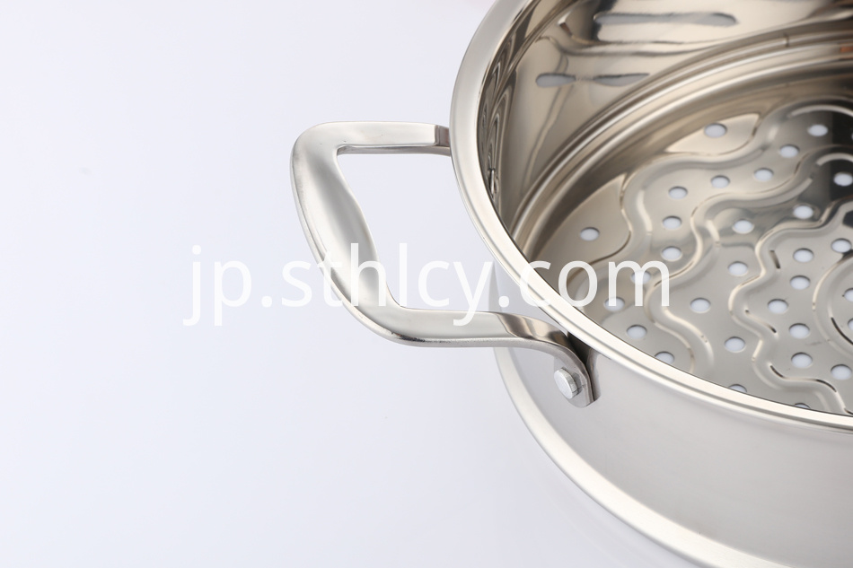 steamer pot with glass lid