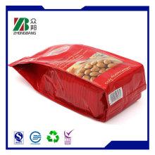 Printed Color Bottom Gusset Plastic Food Packaging Bag