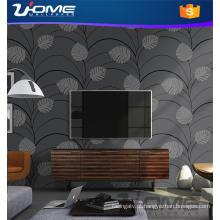 Uhome Stocklot ou vinil veludo bambu Wallpaper para decalques em casa