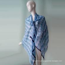 Vestido de praia para a menina Blue Polyster Chiffon