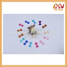 Lovely bowknot adesivo de perfuração acrílica, etiqueta DIY