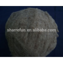 Raw Chinese Sheep Wool Brown Color 20.5mic/32-34mm