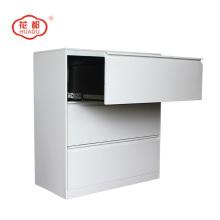 Aço KD três gaveta lateral armário de arquivo do escritório