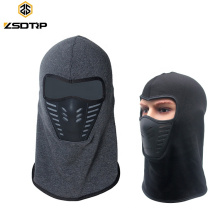 Motorcycle Warm Full Face Mask Balaclava Hood Rubber Breathable Vent Thermal Fleece Lined Windproof Anti Dust For Ski Mask