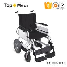 Cadeira de rodas elétrica elétrica de alumínio com bateria de lítio destacável inteligente