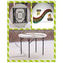 Moden Loisirs HDPE en plastique léger Table de rallonge pliante en plein air imprimé en plein air (HQ-Y94)