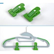 Green Color  Hanger Clips for Flocked Hangers