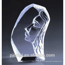 выгравированный кристалл айсберг лице внутри с подарок & сувенир ЦБ-006