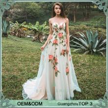 Hochwertige Kleider Abendkleid neuesten Damen Party Abnutzung Kleid Kap Kappen lange Kleider für Hochzeitsfeier