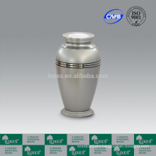 LUXES Metal Urns For Funeral With Silver Colored