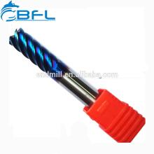 Blaues Eisen-Bohrer-Maschinen-hartgelötete Hartmetall-Spiralfräser