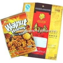 sacos de embalagem de alimentos de material laminado para embalagem de nozes