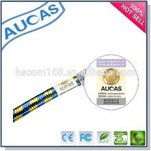 Snagless UTP FTP rede ethernet cabo de remendo plano / ouro banhado rj45 cabo de comunicação blindado / indoor outdoor systimax cat6