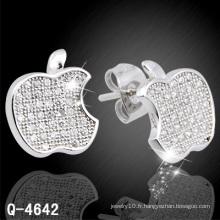 Nouveau design à la mode en argent bijoux oreille Stud 925 Silver (Q-4642)
