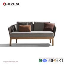 Canapé en bois en plein air en teck avec cordon OZ-OR078