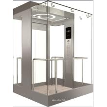 Панорамный лифт Vvvf с машинным залом