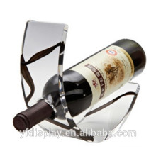 Klare Acryl Wein Display Halter, Polieren Acryl Wein Display Racks