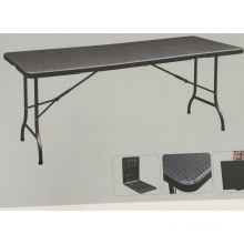 6ft Plastic Folding Table Like Rattan