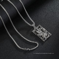 Fashion Trendy Jewellery 2019 Hip Hop Silver Chain Necklace Metal Wholesale Custom